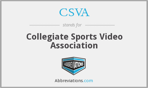 CSVA - Collegiate Sports Video Association