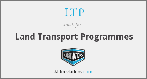 LTP - Land Transport Programmes