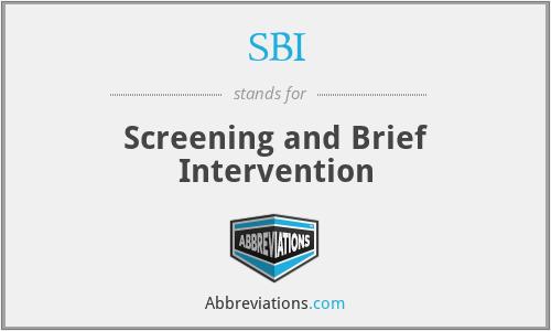 SBI - Screening and Brief Intervention