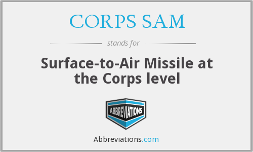 CORPS SAM - Surface-to-Air Missile at the Corps level