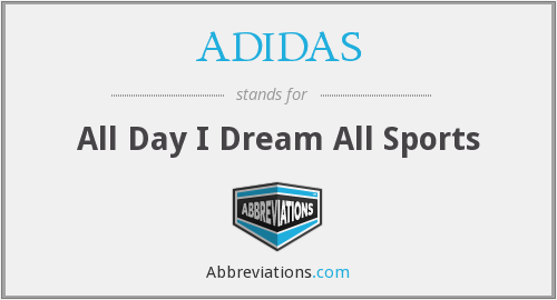 ADIDAS - All Day I Dream All Sports