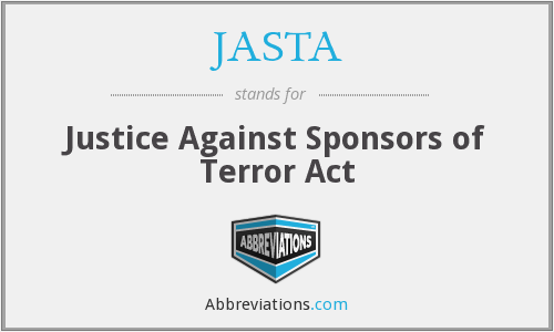 What does JASTA stand for?