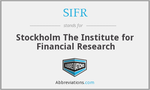What does SIFR stand for?