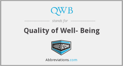 QWB - Quality of Well- Being