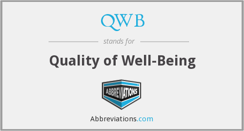QWB - Quality of Well-Being