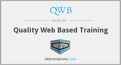 QWB - Quality Web Based Training