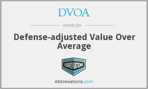 What does DVOA stand for?