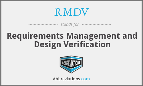 What does RMDV stand for?