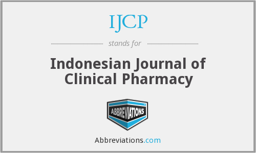 IJCP - Indonesian Journal of Clinical Pharmacy