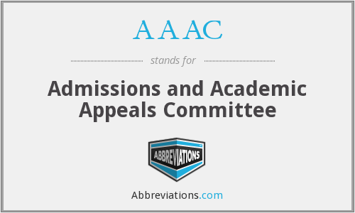AAAC - Admissions and Academic Appeals Committee