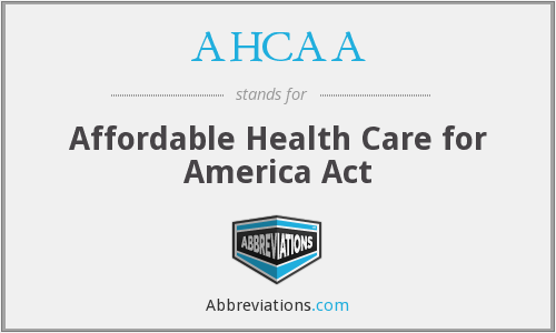 What does AHCAA stand for?