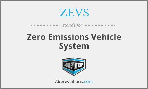 ZEVS - Zero Emissions Vehicle System