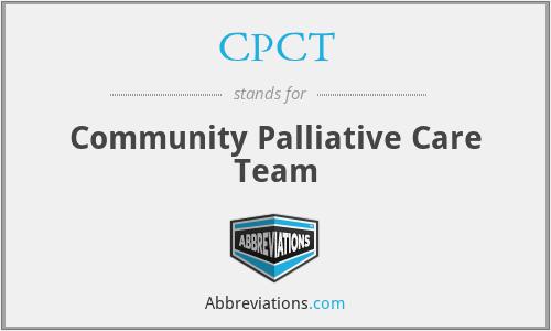 CPCT - Community Palliative Care Team