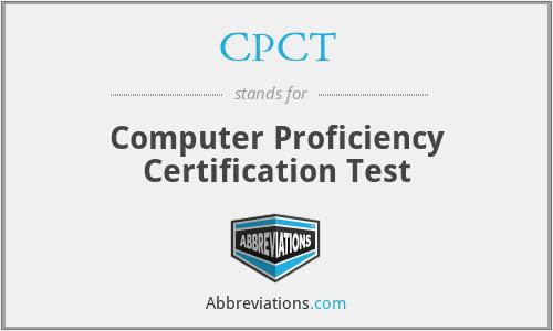 CPCT - Computer Proficiency Certification Test