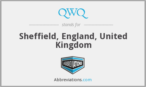 QWQ - Sheffield, England, United Kingdom