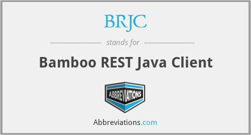 BRJC - Bamboo REST Java Client