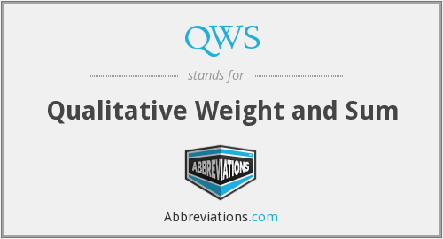 QWS - Qualitative Weight and Sum
