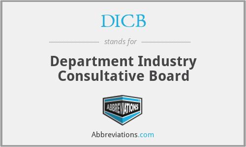 DICB - Department Industry Consultative Board