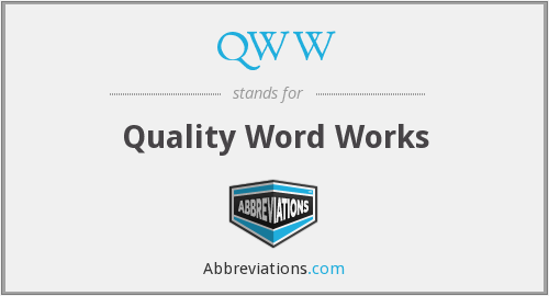 QWW - Quality Word Works