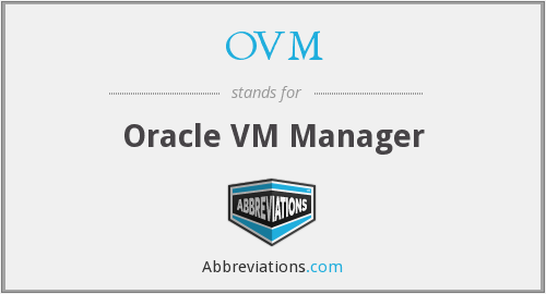 OVM - Oracle VM Manager
