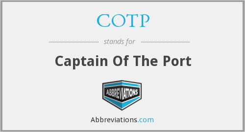 COTP - Captain Of The Port