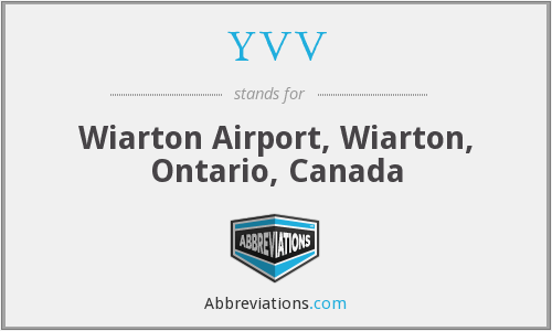 YVV - Wiarton Airport, Wiarton, Ontario, Canada
