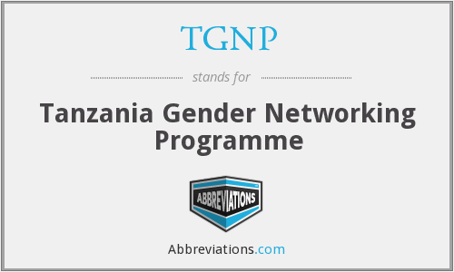 What does TGNP stand for?