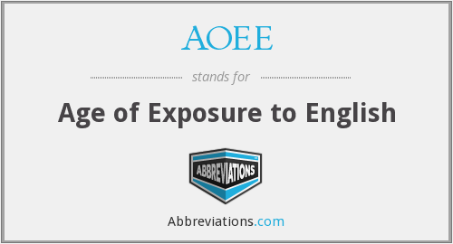 What does AOEE stand for?