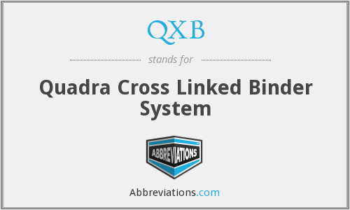 QXB - Quadra Cross Linked Binder System