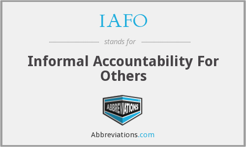 What does IAFO stand for?