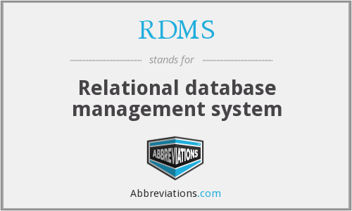 RDMS - Relational database management system