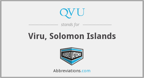 QVU - Viru, Solomon Islands