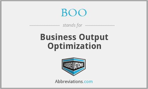 BOO - Business Output Optimization