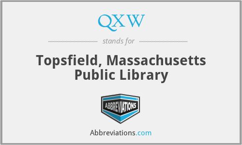 QXW - Topsfield, Massachusetts Public Library