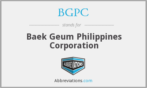 What does BGPC stand for?
