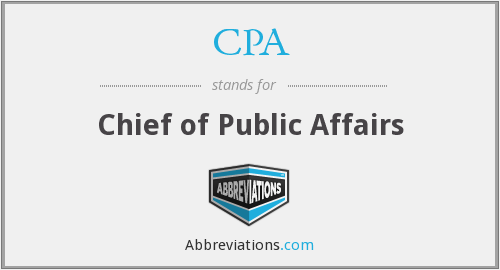 CPA - Chief of Public Affairs