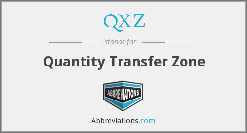 QXZ - Quantity Transfer Zone