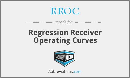 RROC - Regression Receiver Operating Curves