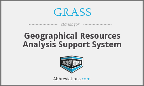 GRASS - Geographical Resources Analysis Support System