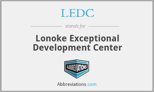 LEDC - Lonoke Exceptional Development Center