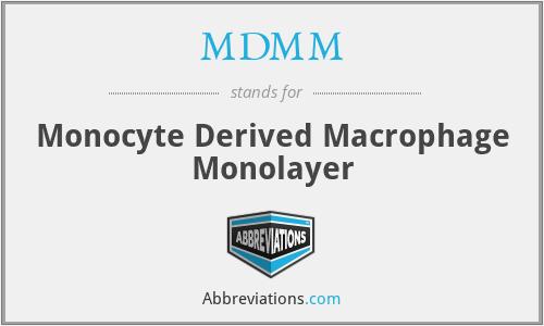 MDMM - Monocyte Derived Macrophage Monolayer