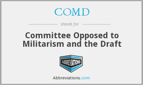 What does COMD stand for?