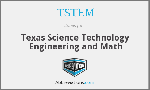 What does TSTEM stand for?