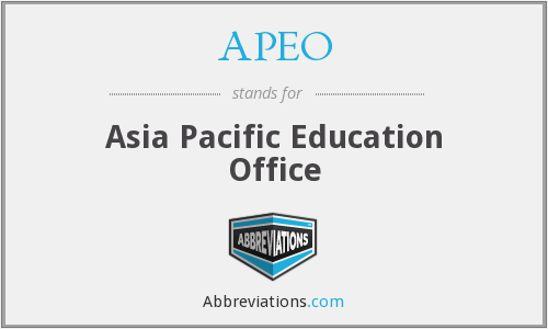 What does APEO stand for?