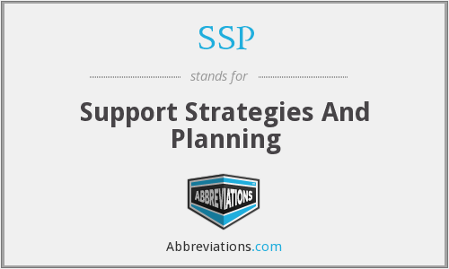 SSP - Support Strategies And Planning