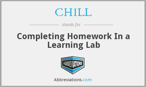 CHILL - Completing Homework In a Learning Lab