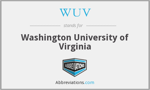 WUV - Washington University of Virginia