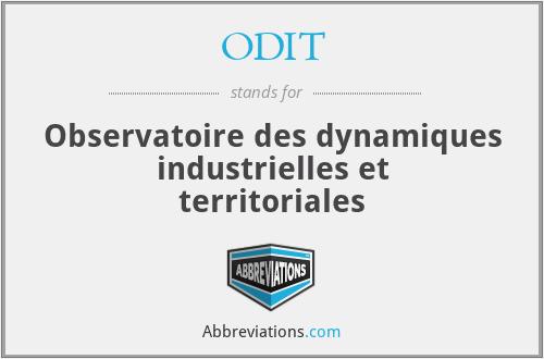 ODIT - Observatoire des dynamiques industrielles et territoriales