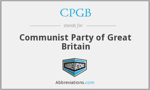 What does CPGB stand for?