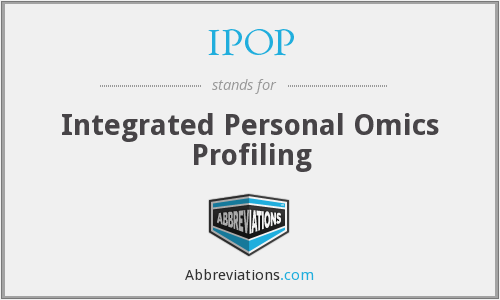 IPOP - Integrated Personal Omics Profiling